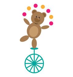 Bear on unicycle vector