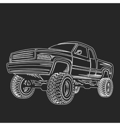 car truck 4x4 pickup off-road vector image