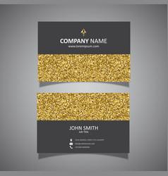 gold glitter business card design vector image vector image