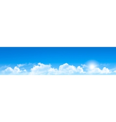 Nature background with blue sky and clouds vector image