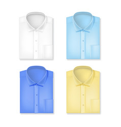 realistic 3d classic shirts set vector image vector image