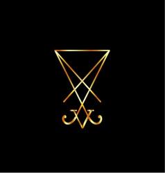 Sigil of Lucifer- A symbol of satanism vector image vector image