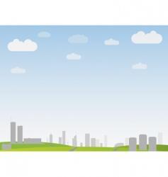simple city landscape vector image vector image
