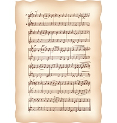 vintage musical sheet vector image