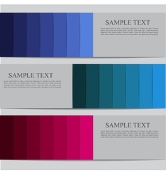 banner template vector image vector image