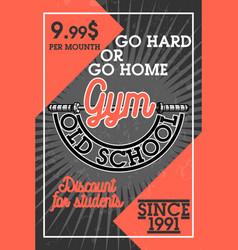 Color vintage gym banner vector