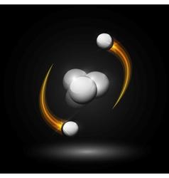 Helium atom vector image vector image