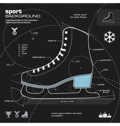 Iceskate infographic design background vector image vector image