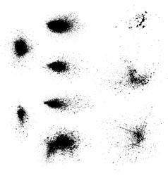 Ink blots splash vector image