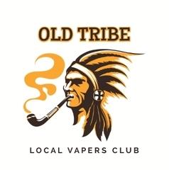 tribal american indian vipe bar logo vector image vector image