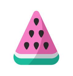 watermelon flat ico vector image