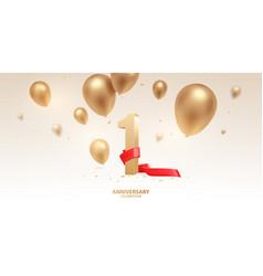 1st year anniversary celebration background vector