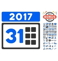 2017 Month Icon With 2017 Year Bonus Pictograms vector
