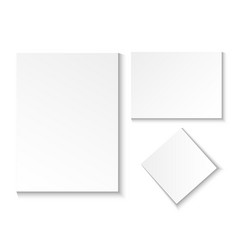 a blank paper sheet empty in different positions vector image