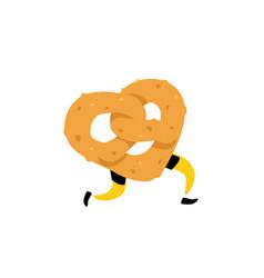 A running bagel running pretzels crunchy vector