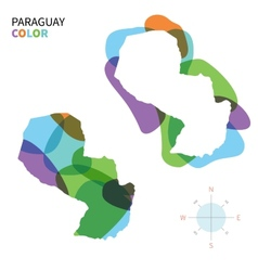 Abstract color map of Paraguay vector