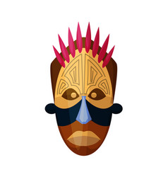 African god mask isolated on white background vector