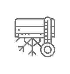 Air conditioning with cooling line icon vector