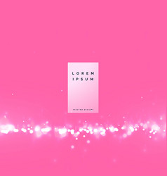 Awesome pink bokeh background with particle effect vector