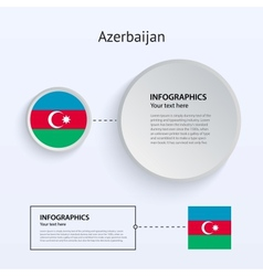 Azerbaijan Country Set of Banners vector image