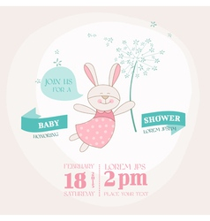 Baby shower or arrival card - bunny vector