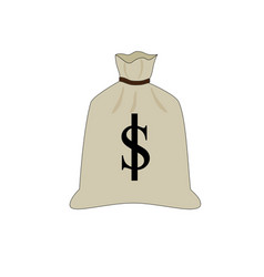 big dollar money bag icon vector image