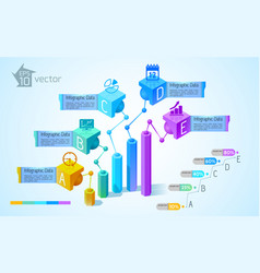 business charts and graphs infographics vector image