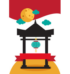 Card dedicated to the chinese holiday vector