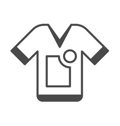 Clothing advertisement isolated icon vector