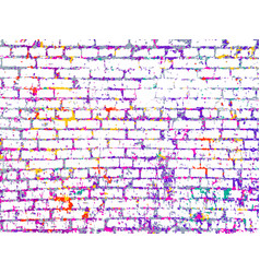 colorful grunge art wall vector image