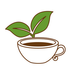 cup with tea leafs vector image