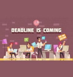 Deadline is coming vector