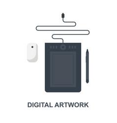 digital artwork icon concept vector image