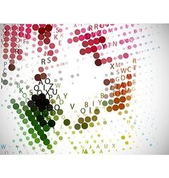 Digital program code vector image