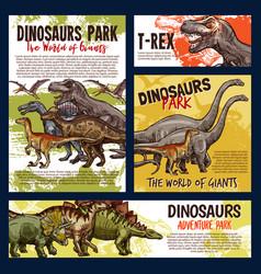 Dinosaur jurassic dino monster animals vector
