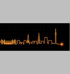 dortmund light streak skyline profile vector image