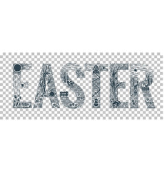 easter element design vector image vector image