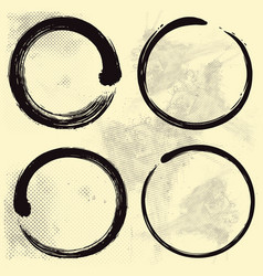 enso zen set on old paper background vector image