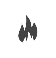 fire silhouette graphic design template vector image