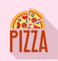fresh pizza logo flat style vector image
