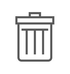 Garbage container trash line icon vector