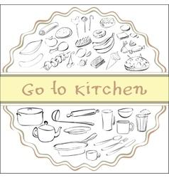 Go to kitchen vector