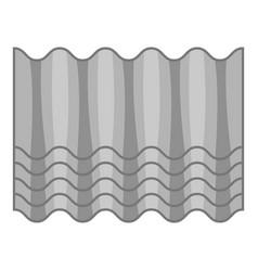 grey roof icon cartoon style vector image