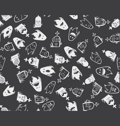 halloween holidays pattern vector image vector image