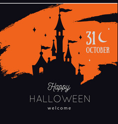 Halloween party invitations or sale poster vector