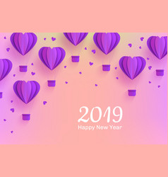 happy new 2019 year congratulation banner in vector image