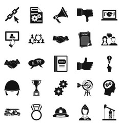 Head icons set simple style vector