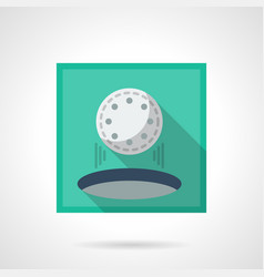 hole in one flat square icon vector image