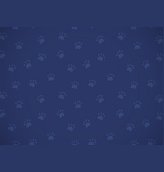 horizontal card seamless dark blue pattern with vector image