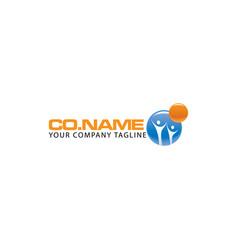 human character logo concept vector image